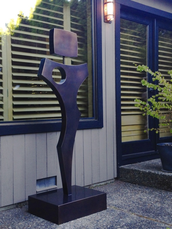 Commissioned For A Private Residential Garden Overlooking The Puget  Sound.Troy Created This Contemporary Bronze Sculpture With Itu0027s Figurative  Nature To ...